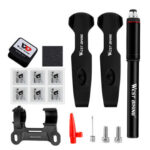 WEST BIKING Cycling Bike Tire Repair Tools Kit Pump Patch Lever (Black)