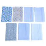 7x 25x25cm DIY Cotton Print Cloth Sewing Quilting Fabrics for Patchwork (D)