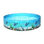 Marine Pattern Swimming Pools Backyard Foldable Kids Water Pool (152x25cm)