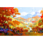 1000pcs Paper Puzzles Jigsaw Red Woods Educational Kids Adults Assemble Toy