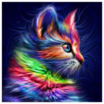 5D Diamond Painting Full Round Drill Cat Cross Stitch Mosaic Picture Kit