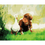 Cute Boy Acrylic Paint Wall Art Picture DIY Oil Painting By Numbers Kit