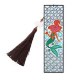 DIY Special Shaped Diamond Painting Fishtail Beauty Tassel Leather Bookmark