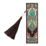 DIY Special Shaped Diamond Painting Palace Style Tassel Leather Bookmark