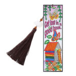 DIY Special Shaped Diamond Painting House Leather Bookmark Tassel Marker
