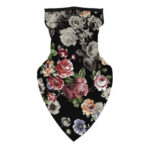 Quick-Drying Bandana Triangle Neck Scarf Flower Print Cycling Face Cover