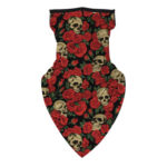 Women Rose Print Breathable Cycling Neck Scarf Face Cover Windproof Bandana