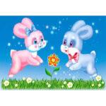 5D DIY Diamond Painting Rabbit Full Drill Embroidery Cross Stitch Crafts