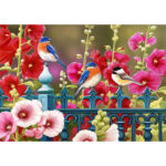 5D DIY Full Diamond Painting Birds Flower Embroidery Cross Stitch Mosaic