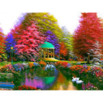 5D DIY Full Drill Diamond Painting Colorful Trees Cross Stitch Embroidery