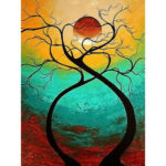 5D DIY Full Drill Diamond Painting Moon Tree Cross Stitch Embroidery Craft