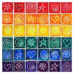 5D DIY Full Drill Diamond Painting Color Geometric Cross Stitch Embroidery