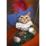 5D DIY Diamond Painting Cat Full Drill Rhinestone Cross Stitch Kits (T411)
