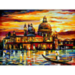 Full Drill 5D Diamond Painting DIY Seaside Castle Embroidery Cross Stitch