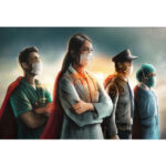 Four Medical Heroes Diamond Painting Cross Stitch Kit 5D Mosaic Pictures