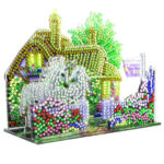 3D Acrylic Diamond Painting DIY Village House Cross Stitch Table Ornament