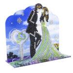 3D Acrylic Diamond Painting DIY Wedding Shaped Cross Stitch Table Ornament