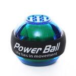 Gyroscope LED Wrist Ball Trainer Gym Fitness Arm Power Exerciser (Blue)