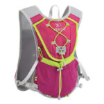 Bicycle Water Bag Outdoor Camping Reflective Hydration Backpack (Rose Red)