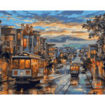 Streetscape DIY Oil Painting By Numbers Modern Wall Art Picture On Canvas
