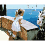 Little Girl DIY Oil Painting By Numbers Kit Modern Home Wall Art Picture