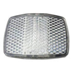 Bicycle Handlebar Front Reflective Lamp Bike Rear Warning Reflector (White)