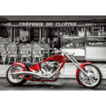 5D DIY Diamond Painting Retro Motorcycle Full Drill Embroidery Home Picture