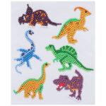 6x Children Kids DIY Diamond Painting Stickers Cartoon Animal Cup Decals