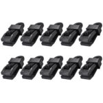 10pcs Outdoor Large Canopy Wind Rope Clamps Windproof Tent Clips (Black)
