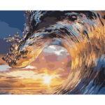 DIY Digital Oil Painting By Numbers Kits Surging Waves Drawing Sea Picture