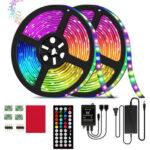 10m LED RGB 5050 SMD Strip Light 12V Remote Control Flexible Lamp Tape (US)