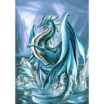 5D DIY Full Round Drill Diamond Painting Sea Dragon Cross Stitch Embroidery