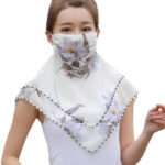 Summer Sun Protection Facemask Chiffon Outdoor Thin Cycling Neck Scarf (1)