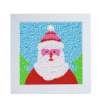DIY Full Drill Santa Claus Diamond Painting Embroidery Set Decor with Frame