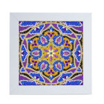 Special Shaped DIY Full Drill Diamond Painting Purple Mandala Embroidery