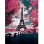 DIY 5D Diamond Painting Eiffel Tower Landscape Cross Stitch Mosaic Picture