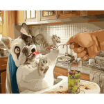 DIY Digital Oil Painting By Numbers Kits No Eating Dog Animal Art Picture