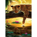 Leopard Reflection 5D Full Drill Diamond Embroidery Painting Cross Stitch
