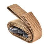 Outdoor Camping Cargo Storage Tied Belt Travel Luggage Buckle Strap (Khaki)