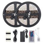 10m 3528 LED RGB String Lamp TV Background Remote Control Ribbon Tape Light