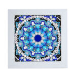 Special Shaped DIY Full Drill Diamond Painting Blue Mandala Embroidery Set