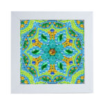 Special Shaped DIY Diamond Painting Green Mandala Embroidery Set with Frame