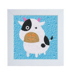 DIY Full Drill Diamond Painting Cartoon Cow Embroidery Cross Stitch Picture
