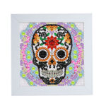 Special Shaped DIY Full Drill Diamond Painting Flower Skull Embroidery Set