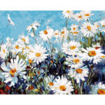 DIY Digital Oil Painting By Numbers Kits Chrysanthemum Drawing Picture Art
