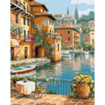 DIY Digital Oil Painting By Numbers Kits Riverside House Wall Decor Picture