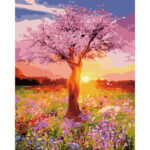 DIY Digital Oil Painting By Numbers Kits Colorful Tree Wall Picture Decor