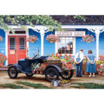 5D DIY Full Round Drill Diamond Painting Garden Shop Cross Stitch Decor Kit