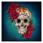5D DIY Full Round Drill Diamond Painting Novelty Skull Cross Stitch Mosaic