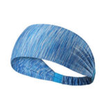 Yoga Headband Outdoor Cycling Running Fitness Sweatband (Striped Blue)